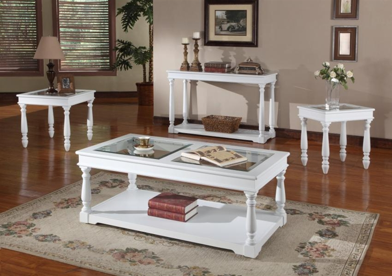 Alpine 48 inch tv console sofa table in cottage white for 48 inch sofa table