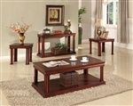 Amor Occasional Tables in Vintage Cherry Finish by Parker House - TPAM-00