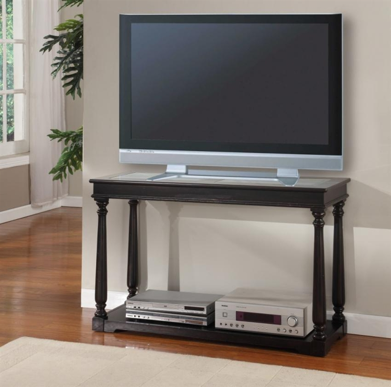 Avelino 48 Inch Tv Console Sofa Table In Vintage Burnished Black