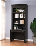 Washington Heights 2 Piece Library Desk in Washed Charcoal Finish by Parker House - WAS#460-2