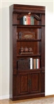 Wellington 32 Inch Open Top Bookcase in Vintage Brown Mahogany Finish by Parker House - WEL-430