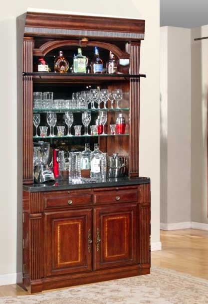 Wellington 2 Piece Bar Unit In Vintage Brown Mahogany Finish By Parker  House   WEL 465 2