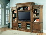 Yorktown 60-Inch TV 5Pc Wall System in Distressed Vintage Caramel Finish by Parker House - YOR-600-5WS