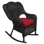 Olivia Rocker Chair in Ebony Finish by Palm Springs Rattan - 3675