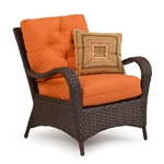 Kokomo Outdoor Lounge Chair in Chocolate Finish by Palm Springs Rattan - 6001
