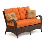 Kokomo Outdoor Loveseat in Chocolate Finish by Palm Springs Rattan - 6002