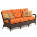 Kokomo Outdoor Sofa in Chocolate Finish by Palm Springs Rattan - 6003