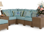 Kokomo 4 Piece Outdoor Sectional in Oyster Grey Finish by Palm Springs Rattan - 6301-SEC-4OG