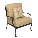 Savannah Outdoor Lounge Chair in Aged Black Finish by Palm Springs Rattan - 7301