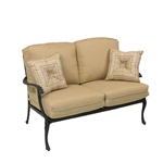 Savannah Outdoor Loveseat in Aged Black Finish by Palm Springs Rattan - 7302