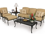 Savannah 2 Piece Outdoor Sofa Set in Aged Black Finish by Palm Springs Rattan - 7303-S