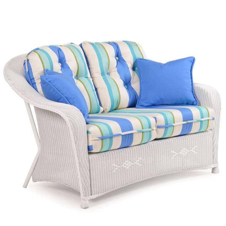 Remarkable Hampton Outdoor Loveseat By Palm Springs Rattan 8275 Creativecarmelina Interior Chair Design Creativecarmelinacom
