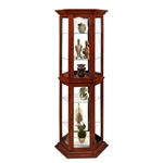 PFC Curio Display Cabinet in Antique Brass Finish by Pulaski - PUL-20853