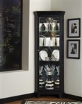 PFC Corner Curio Oxford Black Finish Display Cabinets by Pulaski - PUL-21220