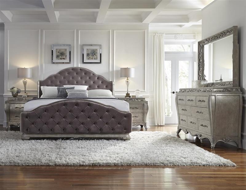 Rihanna Upholstered 6 Piece Bedroom Set By Pulaski Pul 788170