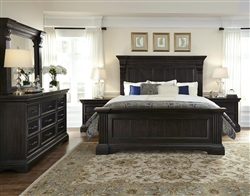 Caldwell Black Finish 6 Piece Bedroom Set by Pulaski - PUL-P012170