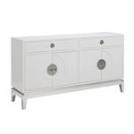 PFC Accents 4-Dr Credenza with White High-Gloss Finish by Pulaski - PUL-P020006