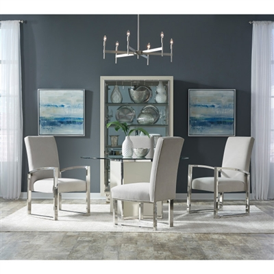 Cydney 5 Piece Round Dining Room Set with Metal Chair by Pulaski - PUL-P053231
