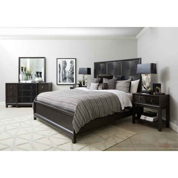 Radiance Dark Grey Finish 6 Piece Bedroom Set By Pulaski Pul P072170