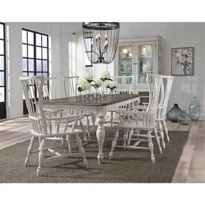 Glendale Estates 7 Piece Dining Room Set with Windsor Arm Chairs by Pulaski - PUL-P166240-65