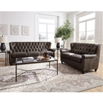 Charlie 2 Piece Sofa Set in Brown by Pulaski - PUL-P927