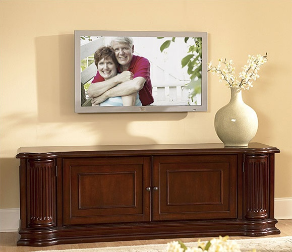 Ambiance 80Inch TV Console in Sangria Finish by Riverside 14040