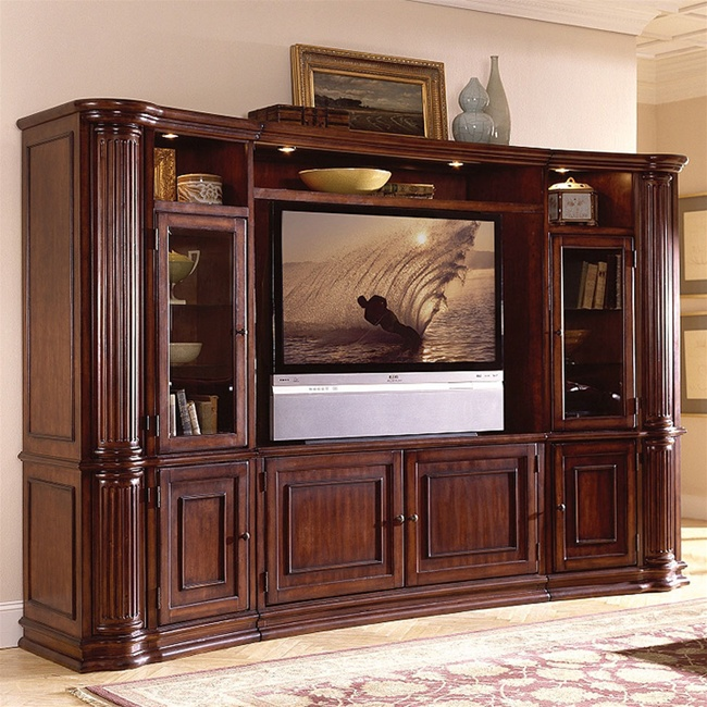 Entertainment Center Kitchen Set: Riverside Furniture Ambiance 60 Inch Console & Pier