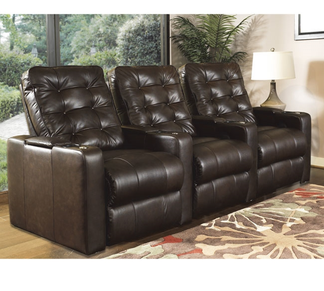 Row One Horizons Home Theater 3-Seat Recliner Sofa - ROW-8008-43