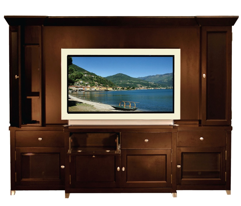 Rialto 60 Inch TV 6 Piece Entertainment Center in Black Finish by
