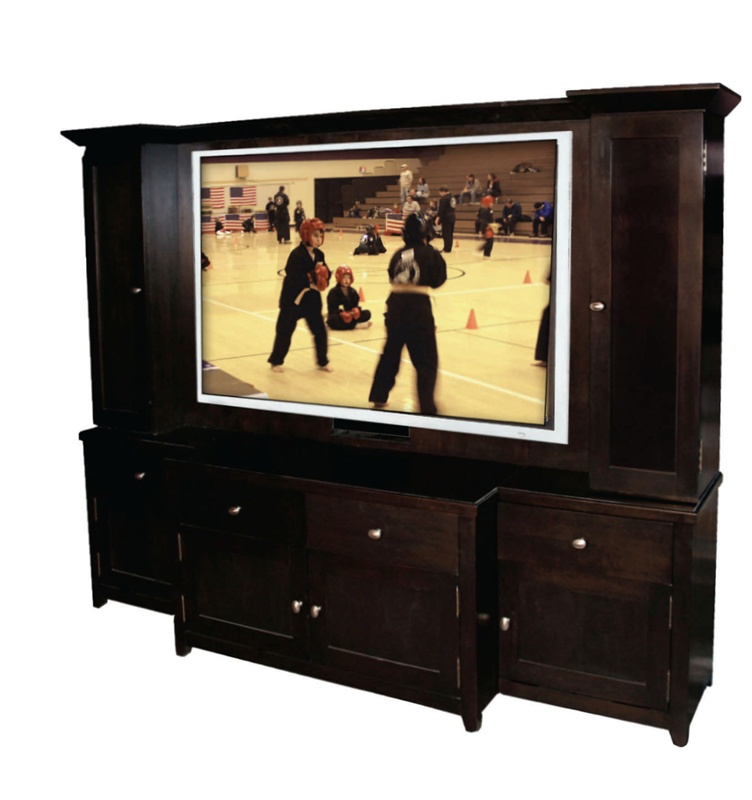 Wonderful 60 Tv Entertainment Center Part - 1: Rialto 60-Inch TV 6 Piece Entertainment Center In Black Finish By Row One -  P525-805