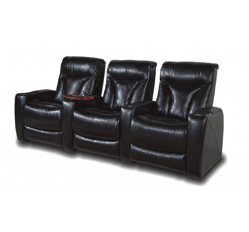Carmel Black Bonded Leather 2-Arm Power Recliner with Storage Arm u0026 Tray in 121B by Row One - RO8009-08P 121B  sc 1 st  Home Cinema Center & Carmel Black Bonded Leather 2-Arm Power Recliner with Storage Arm ... islam-shia.org