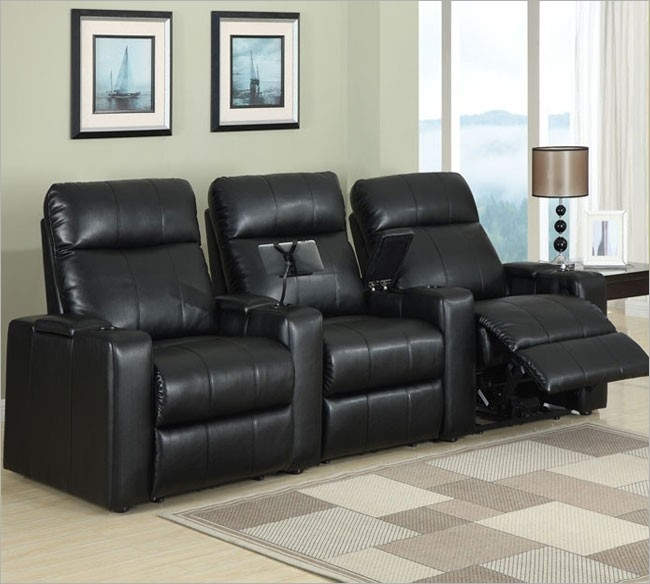 Plaza Black Leather Power Recliner with Tray by Row One - RO8013T-08P-BLK & Plaza Black Leather Power Recliner with Tray by Row One - RO8013T ... islam-shia.org