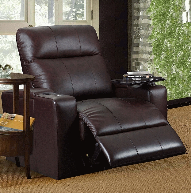 Plaza Brown Leather Power Recliner with Tray by Row One - RO8013T-08P-BR & Plaza Brown Leather Power Recliner with Tray by Row One - RO8013T ... islam-shia.org