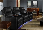 Venetian Theater Seating - 3 Leather Chairs By SeatCraft 9031 - Manual Recline