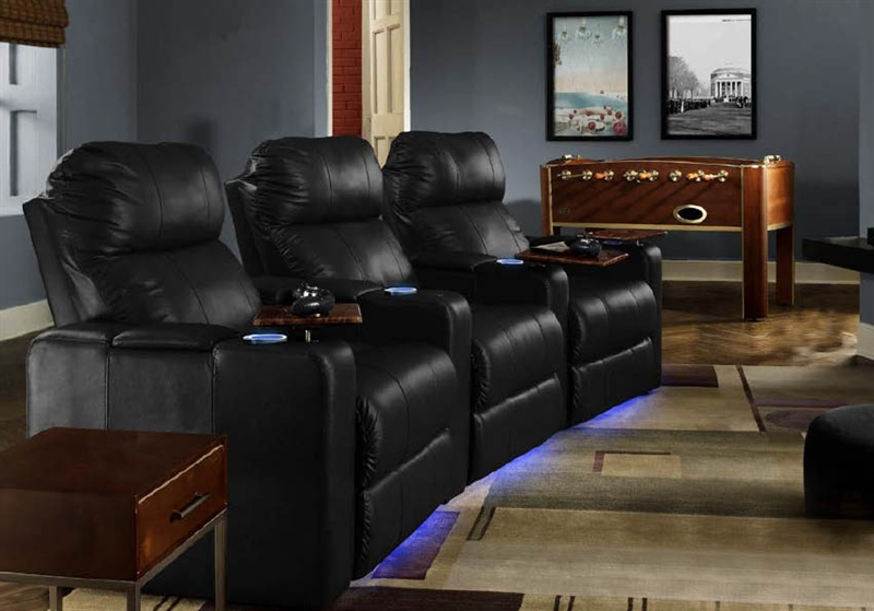 Venetian Theater Seating 3 Leather Chairs By Seatcraft 9031 Power Recline