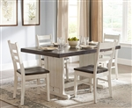 Carriage House 5 Piece Dining Room Set with Ladderback/Wood Seat Chair by Sunny Designs - SD-0113EC-1616EC