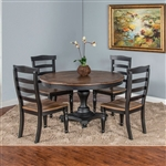 Bourbon County 5 Piece Dual Height Round Table Dining Set in Peanut Butter & Jelly by Sunny Designs - SD-1014PJ