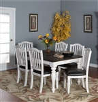 Bourbon County 7 Piece Dining Room Set with Slatback/Cushion Seat Chair by Sunny Designs - SD-1015FC-1431FC-C