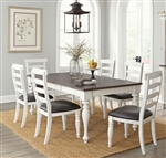 Bourbon County 7 Piece Dining Room Set with Ladderback/Cushion Seat Chair by Sunny Designs - SD-1015FC-1432FC-C