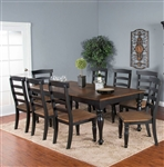 Bourbon County 7 Piece Dining Room Set in Peanut Butter & Jelly Finish by Sunny Designs - SD-1015PJ
