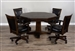 Homestead 5 Piece Round Dining Set With Reversible Table Top in Tobacco Leaf Finish by Sunny Designs - SD-1033TL2