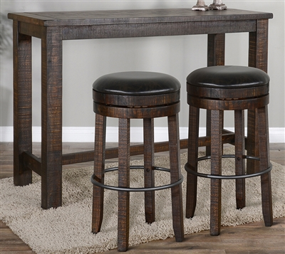 3 Piece Rectangular Pub Table Dining Set with Stool w/ Swivel by Sunny Designs - SD-1039TL2-42-1624TL2-30