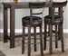 3 Piece Rectangular Pub Table Dining Set with Barstool w/ Back & Swivel by Sunny Designs - SD-1039TL2-42-1624TL2-B30