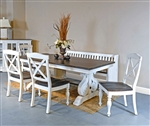 Carriage House 7 Piece Dining Room Set with Crossback/Wood Seat Chair by Sunny Designs - SD-1041EC-1666EC