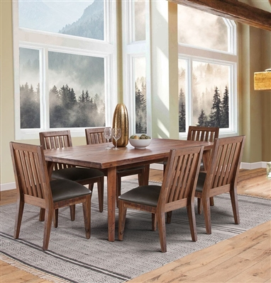 Havana 7 Piece Dining Room Set in Rustic Acacia Finish by Sunny Designs - SD-1095RA