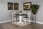 "Carriage House 3 Piece Pub Table Dining Room Set with 24""H Ladderback/Wood Seat Barstool by Sunny Designs - SD-1377EC-1508EC-24"