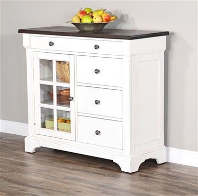 Carriage House Server in European Cottage Finish by Sunny Designs - SD-1923EC