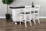 Carriage House 3 Piece Bar Table Set in European Cottage Finish by Sunny Designs - SD-1959EC