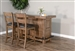Doe Valley 3 Piece Bar Table Set with Ladderback/Cushion Seat Barstool by Sunny Designs - SD-1963BU-1429BU-30