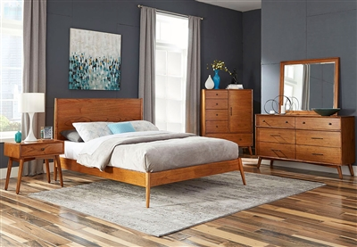 American Modern 6 Piece Bedroom Set in Cinnamon Finish by Sunny Designs - SD-2336CN